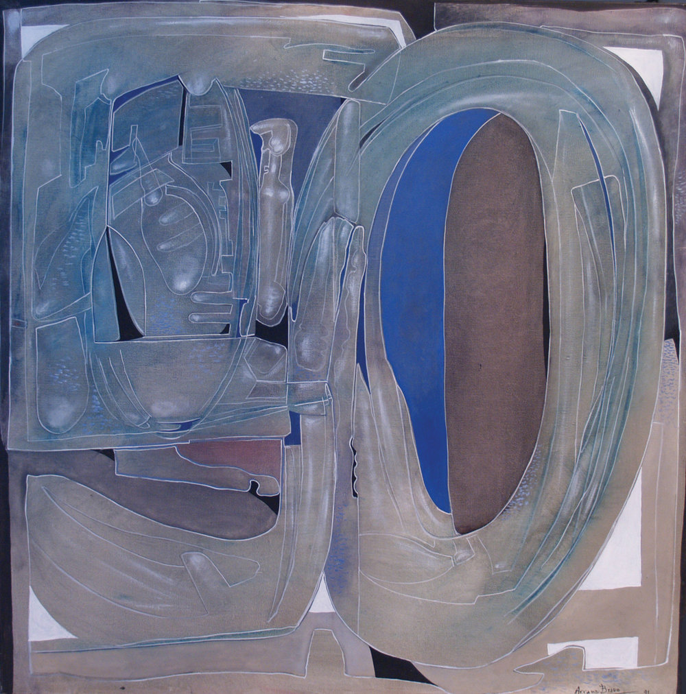 Sèrie 50 #46, oil on canvas, 39 x 39 in, 1991