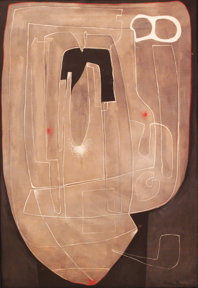 Big L #5, oil on canvas, 28	x 19.5 in, 1992