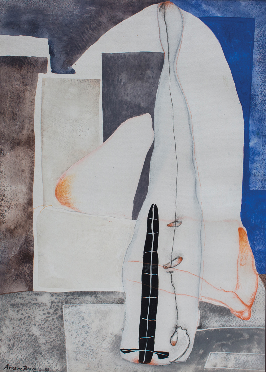 Cadaqués, mixed media on paper, 20 x 14 in, 1988