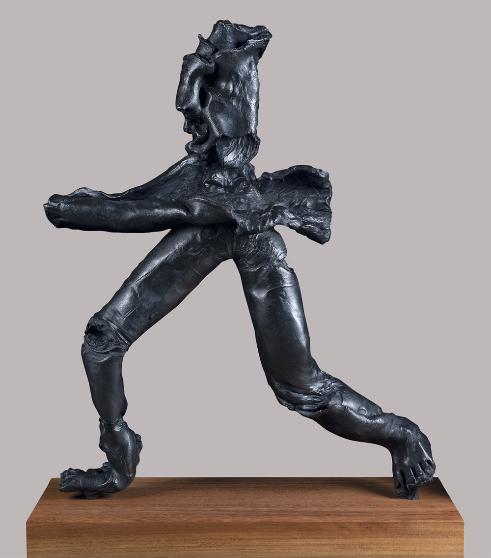 Equilibrist (1/3), bronze, 32 x 26 x 6 inches, 2016