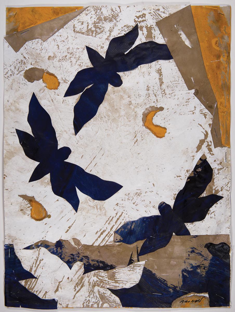 Shama Beach II, Mixed media on paper, 16 x 12 inches, 2017