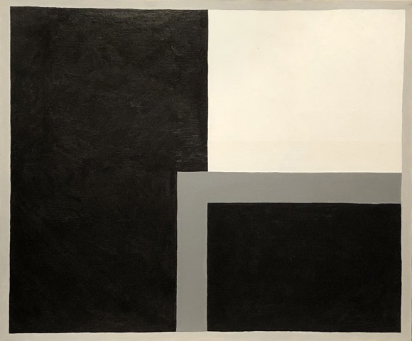 Theory Play, acrylic on canvas, 20 x 24 inches,	1987
