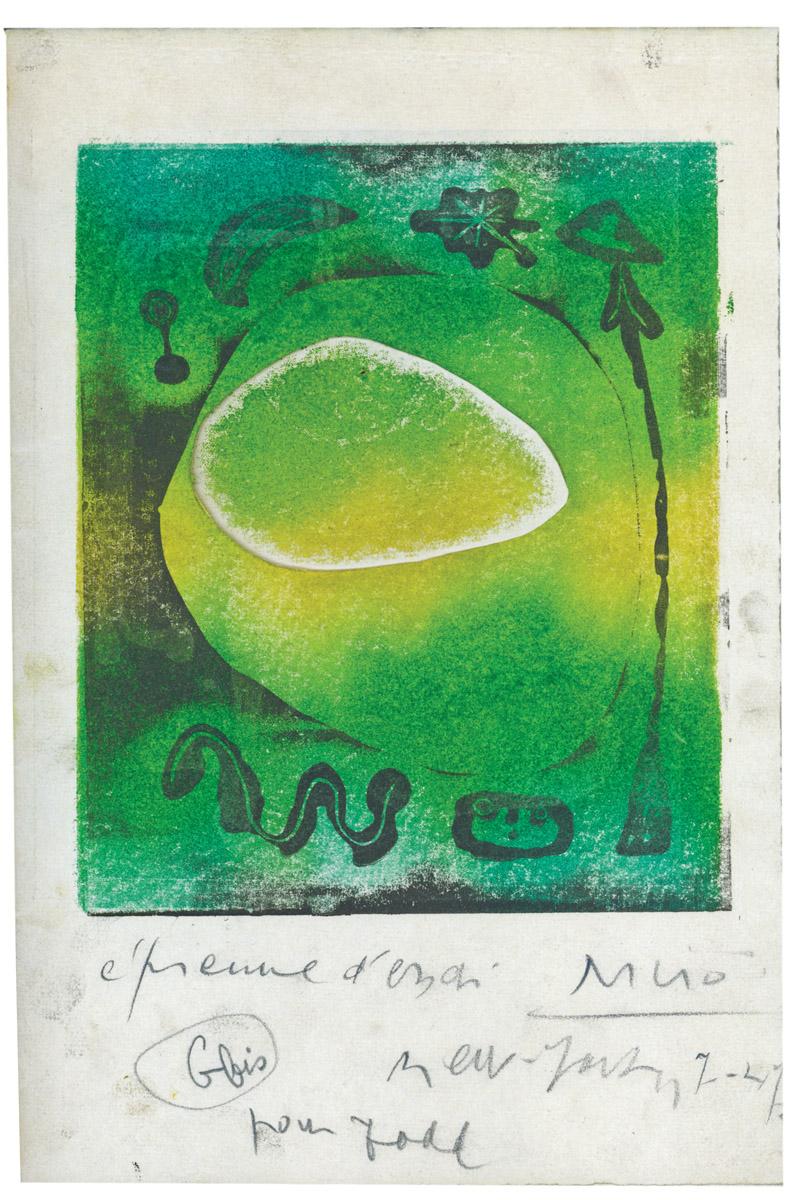 LOT 80 Joan Mirό, L'Atitete (closed - verso)