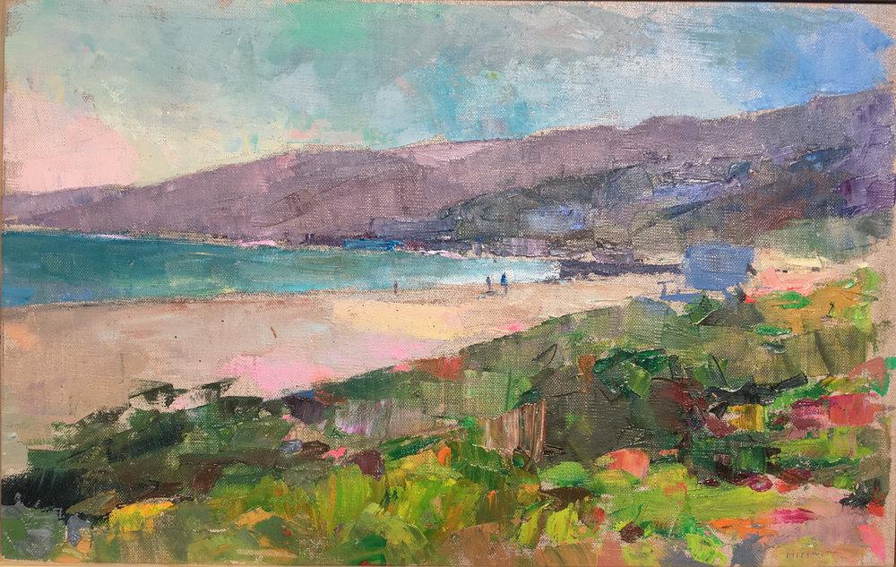 Santa Monica, Oil on Canvas, 12 x 19 in.