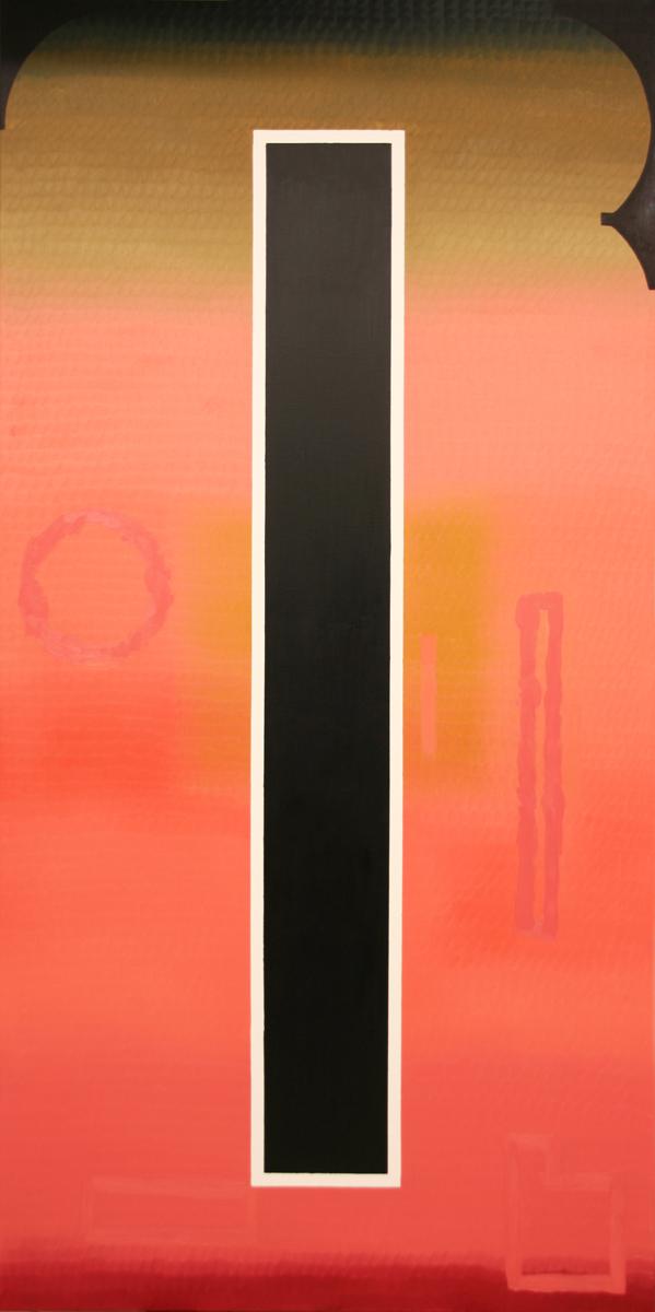 Educhka Geometrika, Oil on Canvas, 101.4 x 50.7 in., 2016