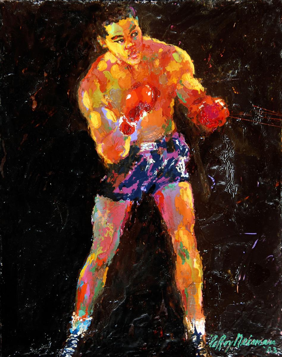 Joe Louis, acrylic & enamel on board, 11.5 x 9 in. 1983