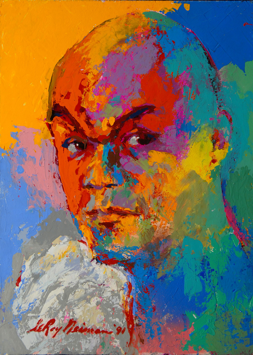 George Foreman, acrylic & enamel on board, 16 x 11.75 in. 1991