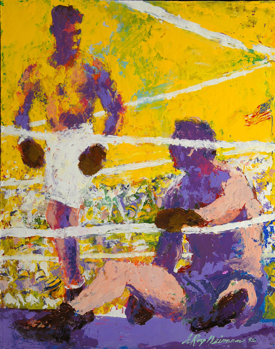 Jack Dempsey, acrylic & enamel on board, 18.5 x 14.5 in. 1995