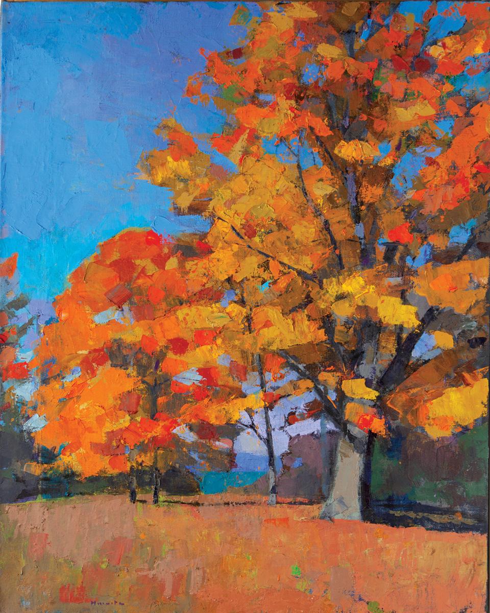 Autumn, oil on canvas, 39 x 31 in.