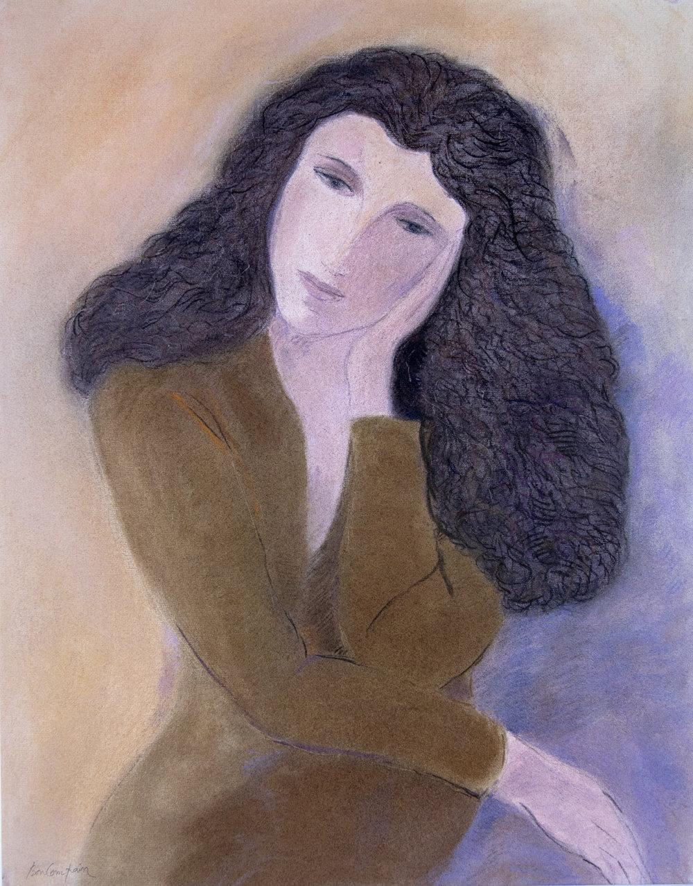 Sophie, pastel on paper, 25.5 x 20 in.(65 x 50 cm),1995