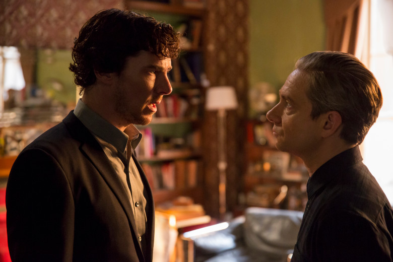 Sherlock and Watson working out the strained friendship after Mary's death.