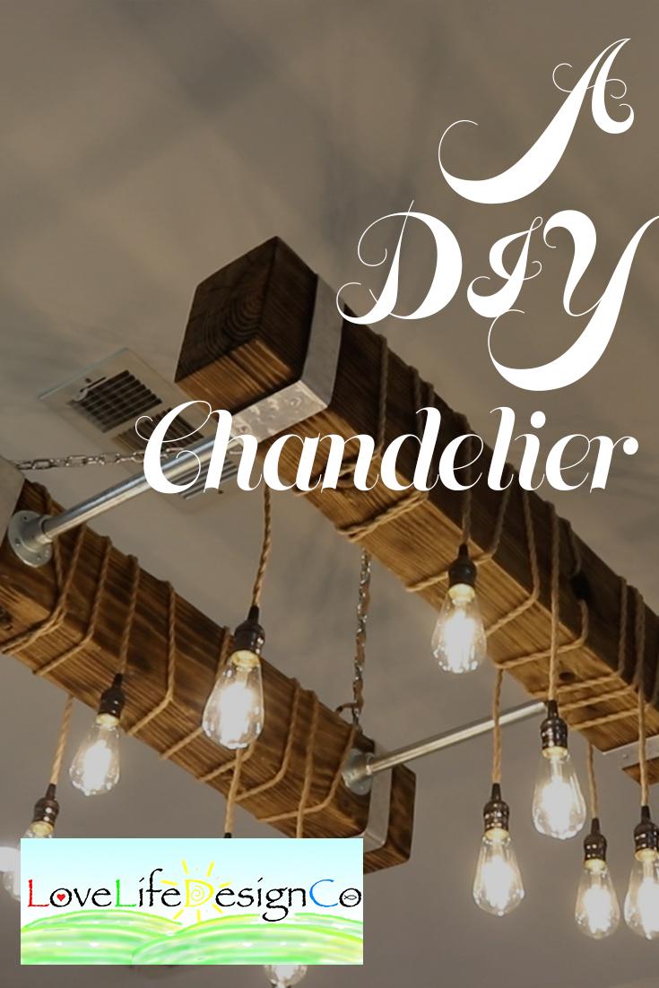 A DIY Chandelier