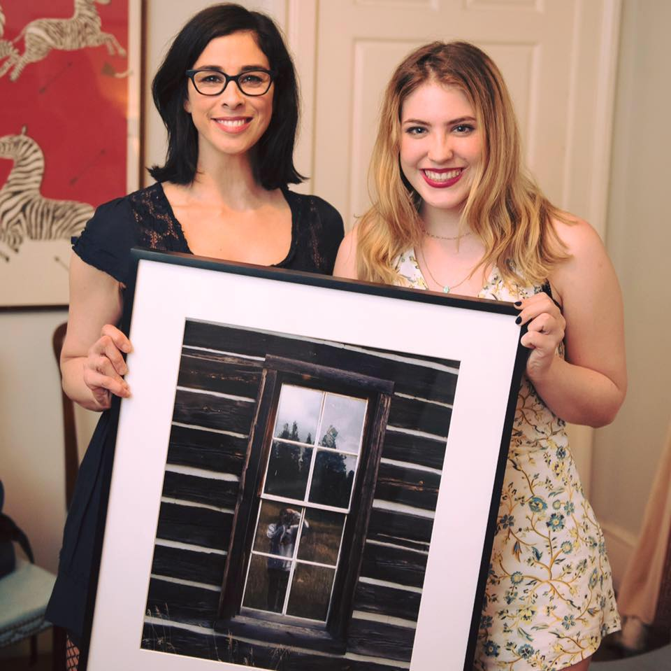 Gabrielle and Sarah with the photography titled, Self Portrait.