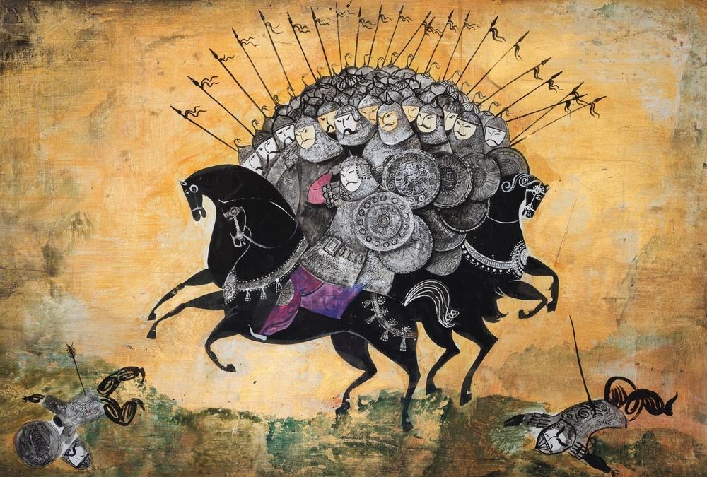 The Battle of Kerzenets  ( The Tartars) . music by N Rimsky- Korsakov . Souz Multfilm. 1971