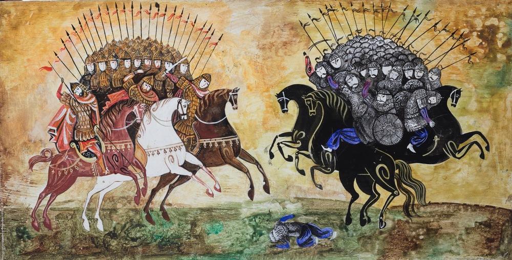 The Battle of Kerzenets  . music by N Rimsky- Korsakov . Souz Multfilm. 1971