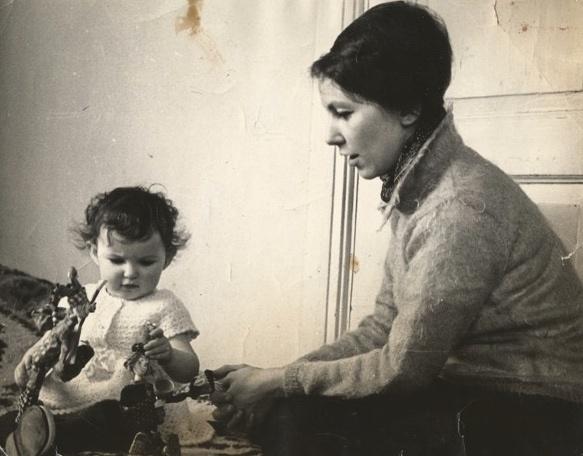 Marina Sokolova with KatyaMoscow 1966