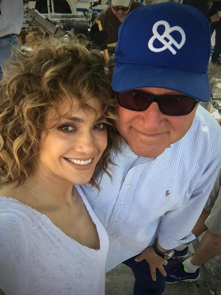 Jennifer Lopez and John Behring on the set of 'Shades of Blue'