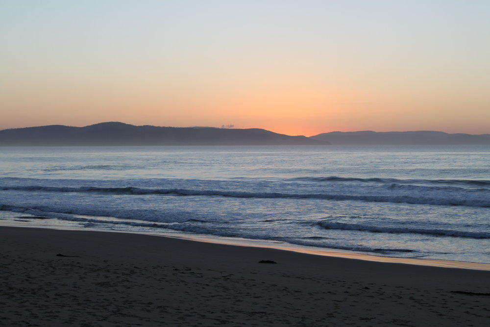this morning's sunrise at bluff's beach.