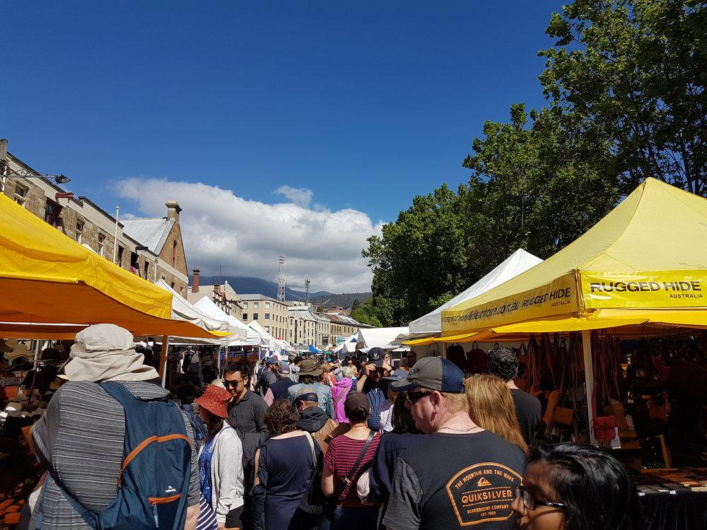 salamanca markets, hobart.