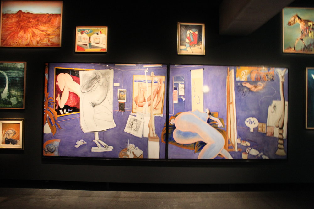 """""""the naked studio""""by brett whiteley at mona (museum of old and new art)."""