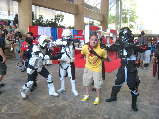 Baltimore Comic Con Imperial soldiers capture attendee