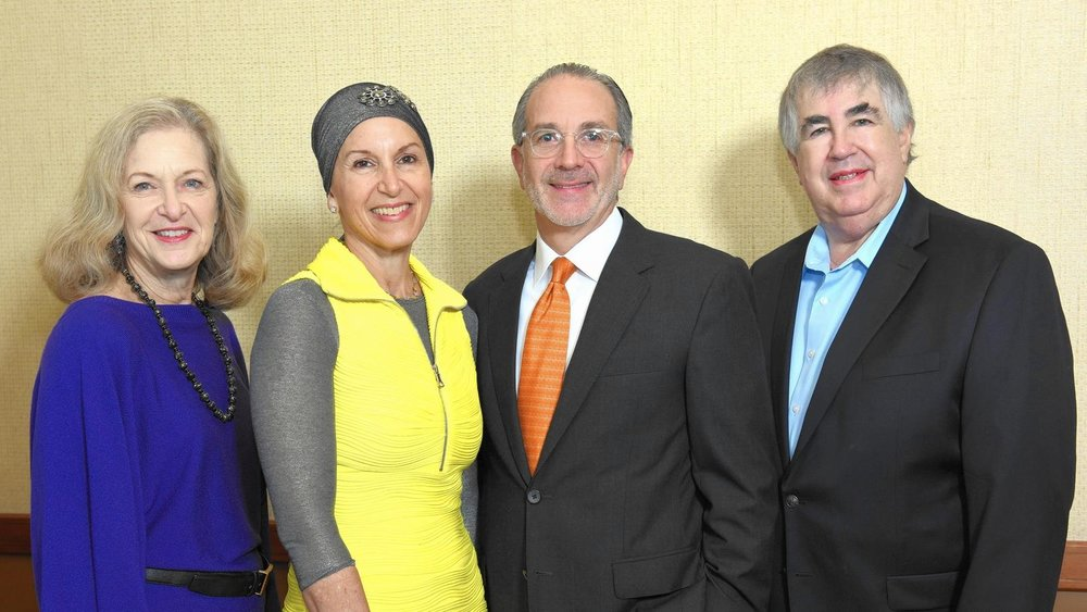 From left, Attending the JEIC 2016 Innovators Retreat in Bal Harbour are Arnee Winshall, founding chair, RAVSAK; Manette Mayberg, founder of JEIC and trustee of the Mayberg Family Foundation; Louis Mayberg, trustee of the Mayberg Family Foundation and Jonathan Woocher, president, Lippman Kanfer Foundation for Living Torah.