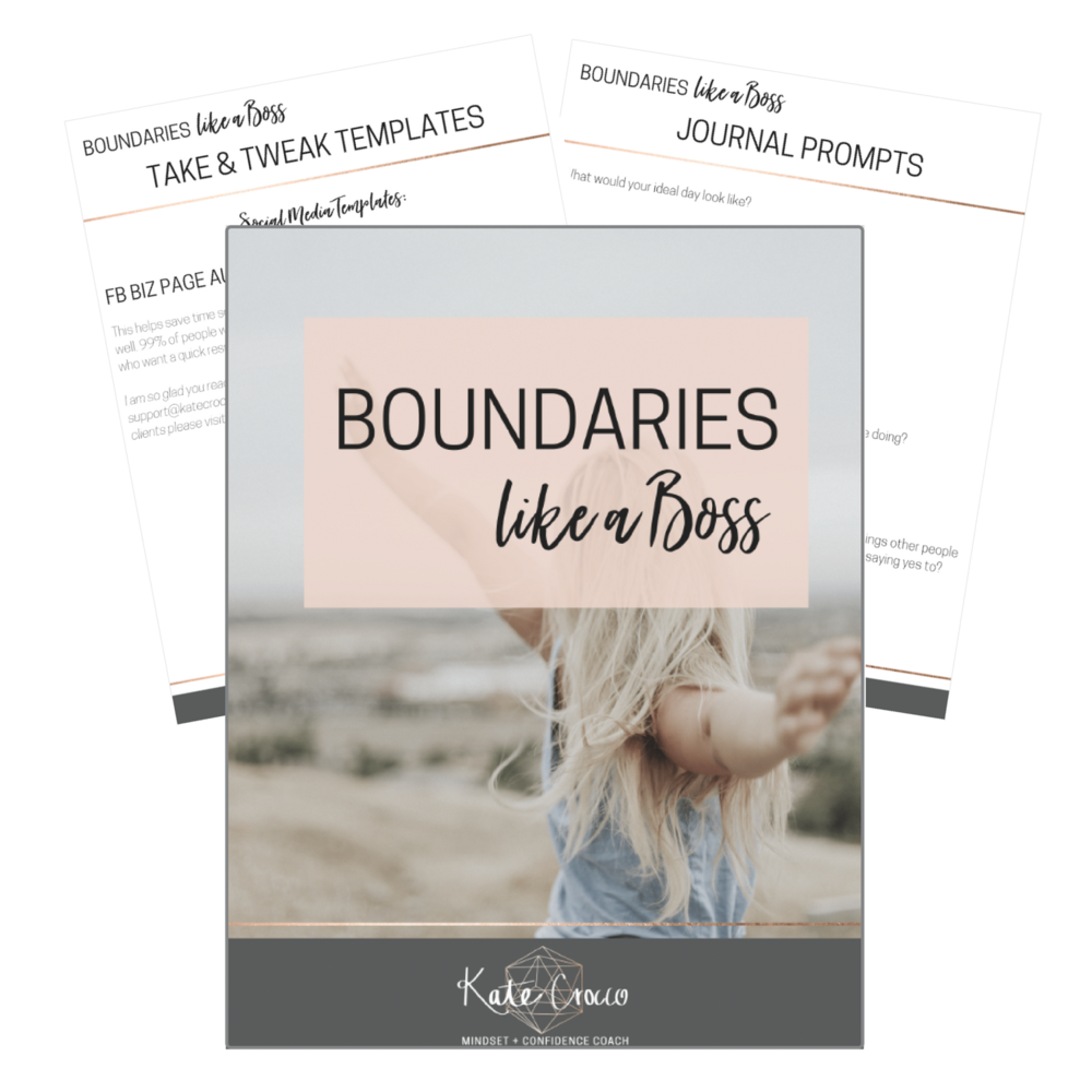 Includes my step-by-step system for setting boundaries in your life and business, journal prompts to help you identify where to set better boundaries, and take-and-tweak templates for setting boundaries on social media and in emails