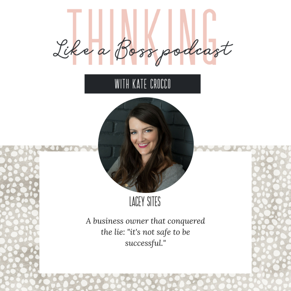 Lacey Sites is a business mentor and success coach for high-performing women entrepreneurs. She has her M.S in mental health counseling and her M.B.A. She's been a therapist and the director of large non-profit. She's also the proud owner of two successful online businesses, and the co-host of the Happy Thoughts Show.