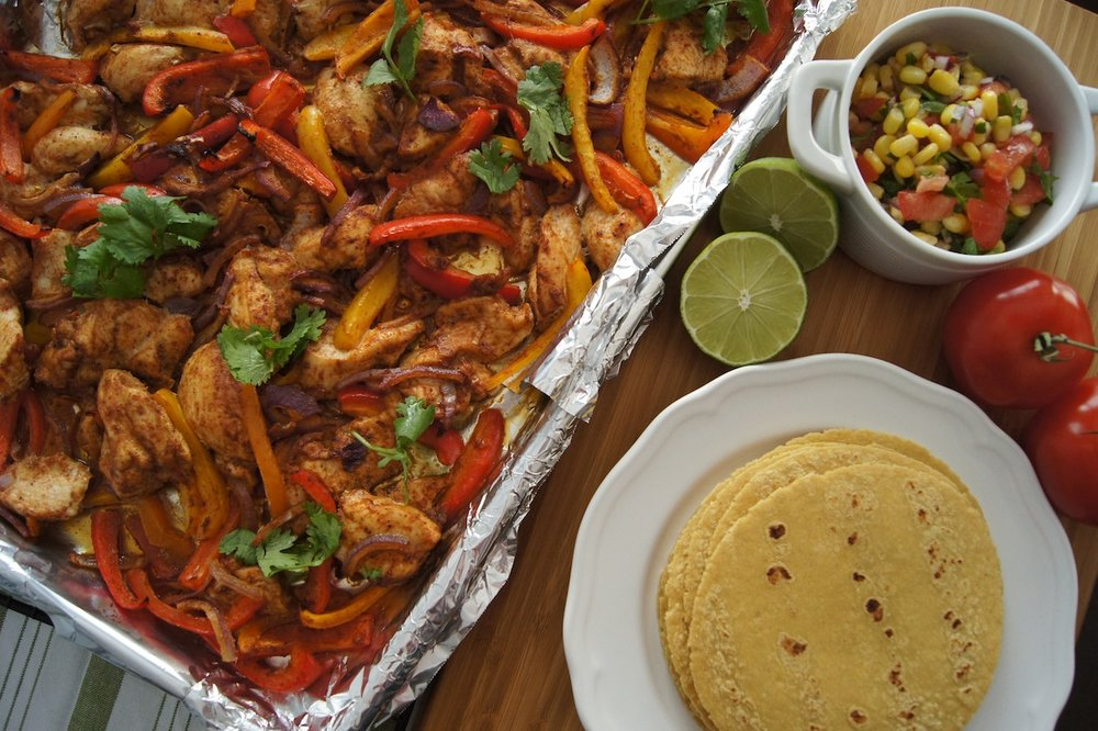 Sheet Pan Chilli-Lime Chicken Fajitas