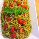 6. Carla's Pesto Pasta (under 30 minutes), from Carla Crudup I've also tried making Pesto with 50% basil and 50% baby spinach, and it's super delicious and kid approved. You can use the extra greens for side salads throughout the week.