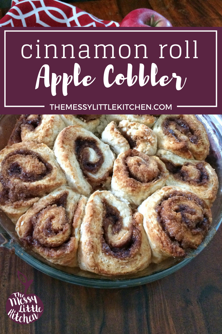 Cinnamon Roll Apple Cobbler Recipe