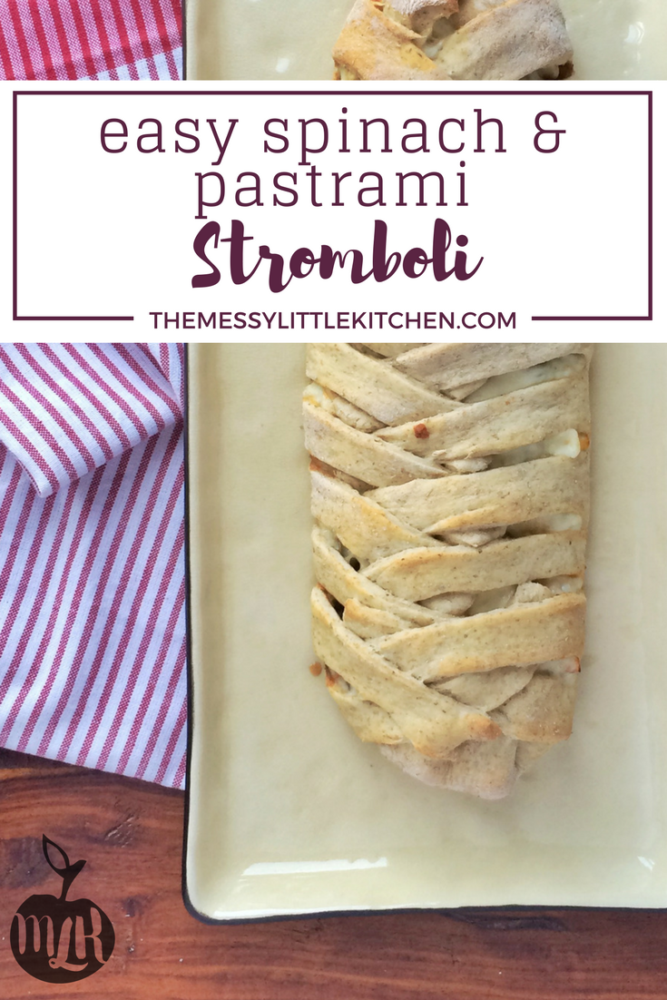 Easy Spinach & Pastrami Stromboli Recipe