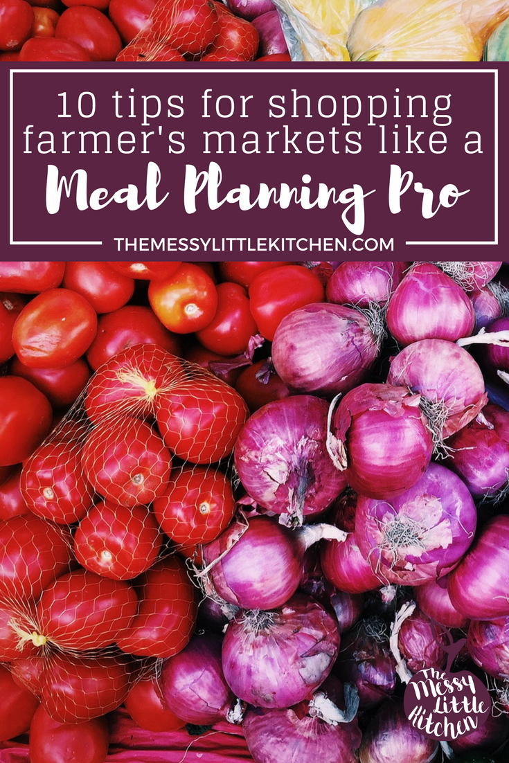 10 Tips for Shopping a Farmer's Market Like a Meal Planning Pro. The first full week of June each year is Local Food Week in Ontario, Canada. And personally, I like to make a pretty big deal about Local Food Week, in part because I grew up on a farm. As a family, we've been needing an activity that gets us outside and enjoying the fresh air. We love celebrating Local Food Week by visiting a farmers market stand or two, and building all of the fresh ingredients into our weekly food and meal plan. These 10 tips will help you determine how to build a flexible grocery list that uses seasonal ingredients, and allows you to shop for your groceries at the farmer's market without feeling over-purchasing or feeling overwhelmed.