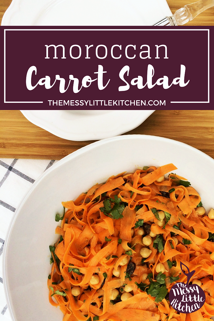 Moroccan Carrot Salad. Moroccan Carrot Salad. This Moroccan Carrot Salad recipe is delicious, nutritious, colourful and a unique side dish! It is quick and easy recipe to assemble, including the homemade salad dressing, and has a gourmet feel! This is also a wonderful dish that you can make in advance for potlucks.