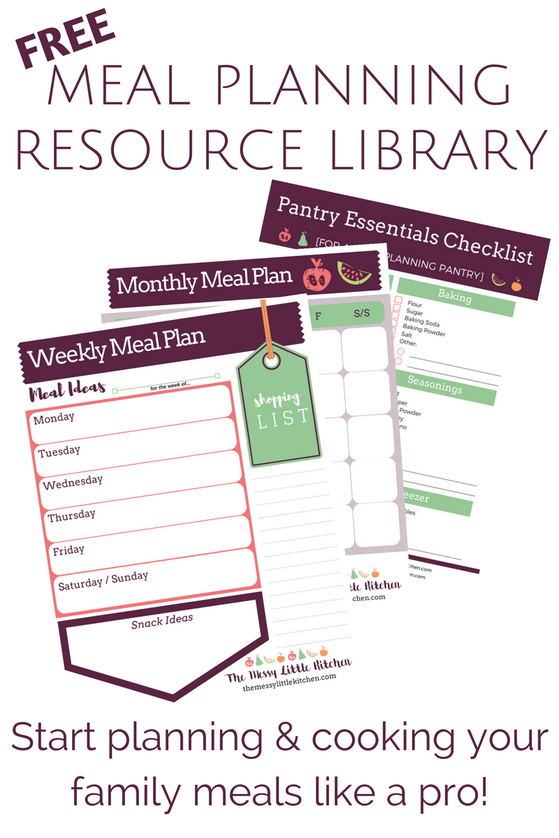 Free Meal Planning Resource Library
