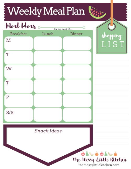 tips for weekly meal planning from a working mom the messy little