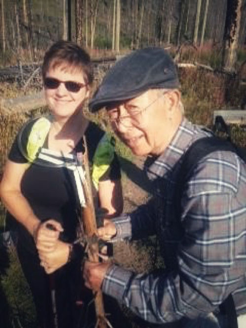 Here I am hiking with my friend Richard who keeps going despite Parkinson disease.