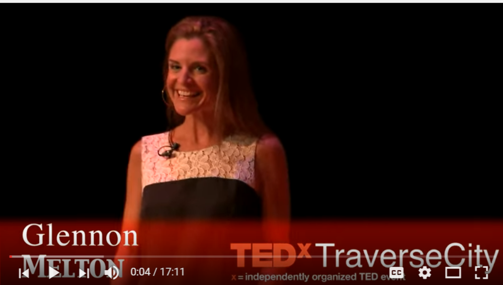 "TEX X Traverse City on YouTube ""Lessons from The Mental Hospital"" by Glennon Doyle MElton"