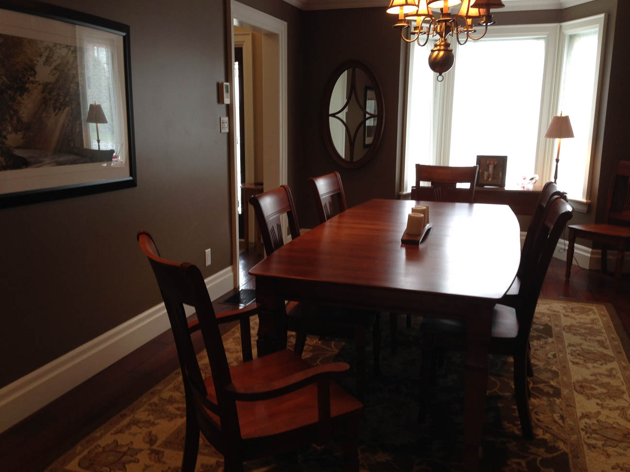 Amateur photo of dining room
