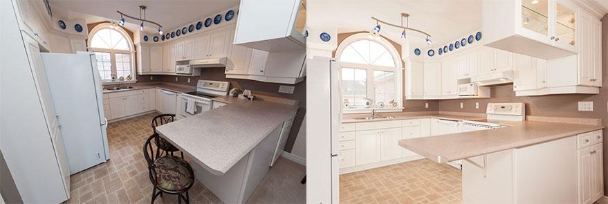 interior real estate photography kitchen