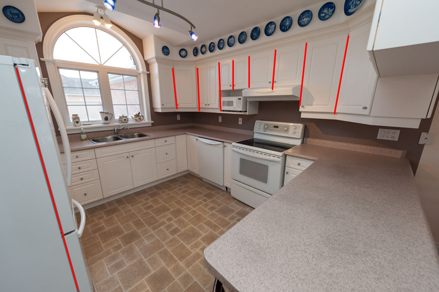 real estate photographer wide angle lens distortion