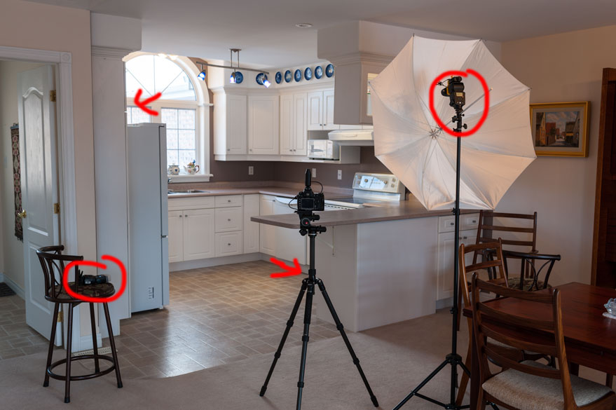 Off camera flash for interior real estate photography