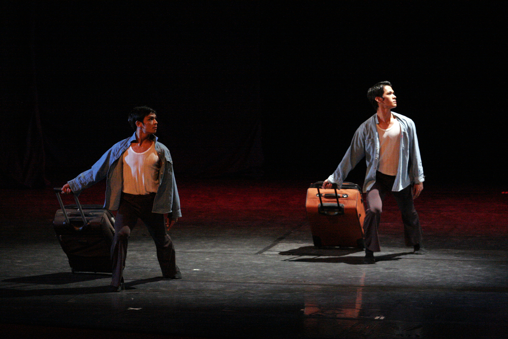 Gerardo Francisco and Rudy De Dios danced    OFW    for a choreography competition in 2009 where it won the grand prize. Photo by Ocs Alvarez