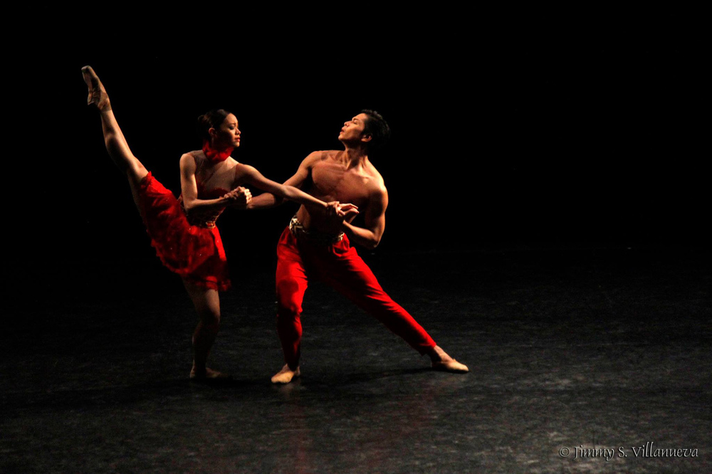 Bloom    is very special to Mark because it was choreographed on him, Dawna Reign Mangahas and their fellow Ballet Manila dancers by Annabelle Lopez Ochoa. Photo by Jimmy Villanueva