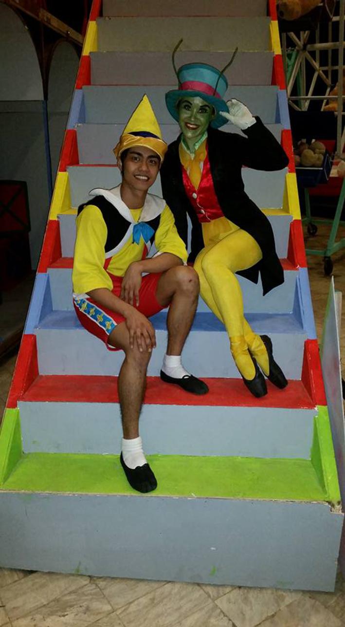 Ballet Manila soloist Elmoe Dictado steps into Pinocchio's shoes.