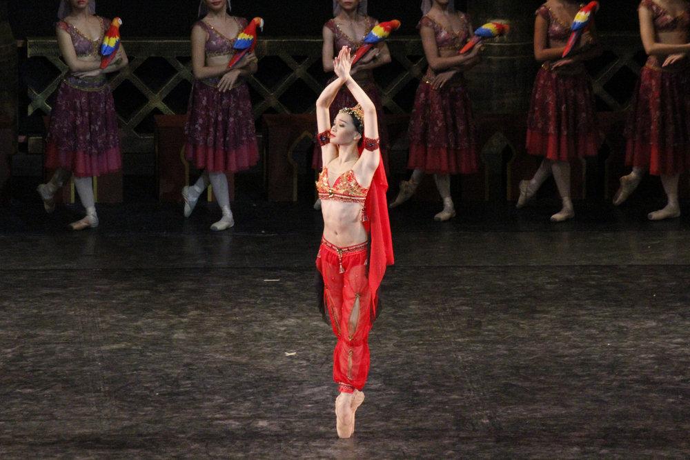 As the temple dancer Nikiya in    La Bayadere