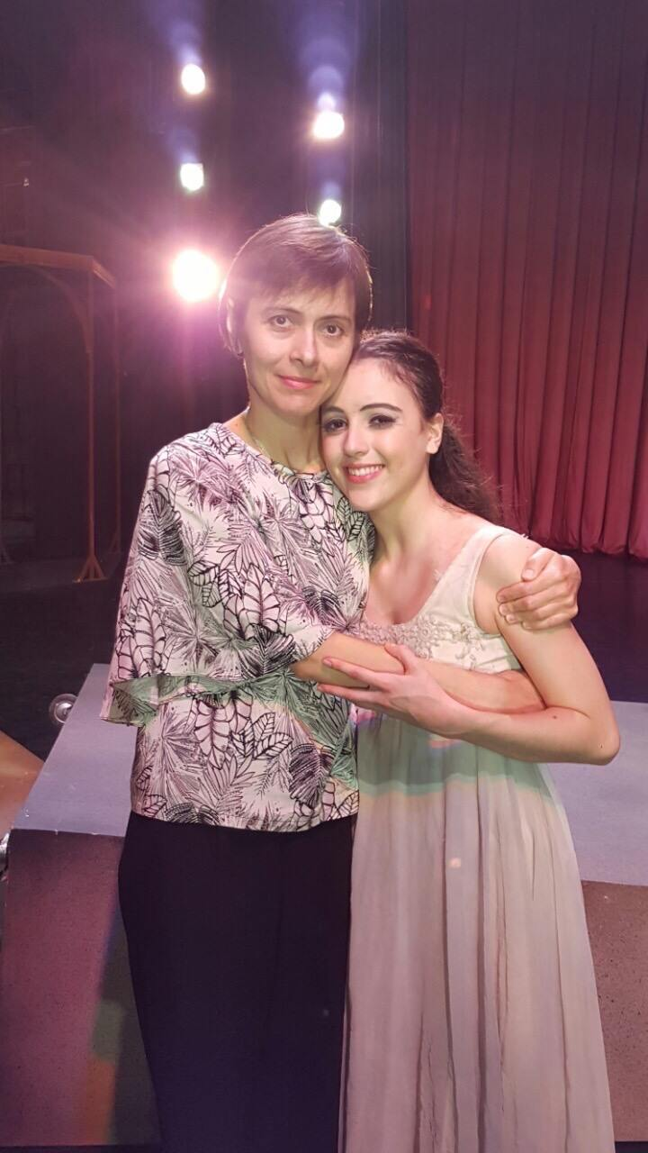 Nadia Pavlenko, Katherine's Russian coach in the United States, came to the Philippines to watch her debut in    Romeo and Juliet    in 2015. Photo from Katherine Barkman's Facebook page