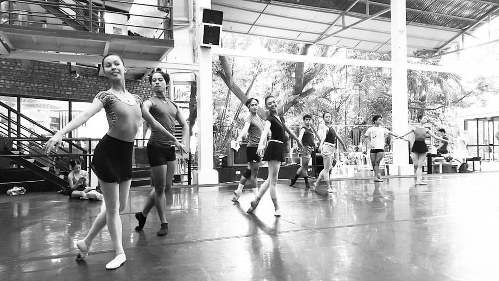Ballet Manila is now like a second home to Czarina (leftmost). She admits to feeling intimidated when she first came to the BM studio as she says all the dancers there were so good. Photo by Joan Emery Sia