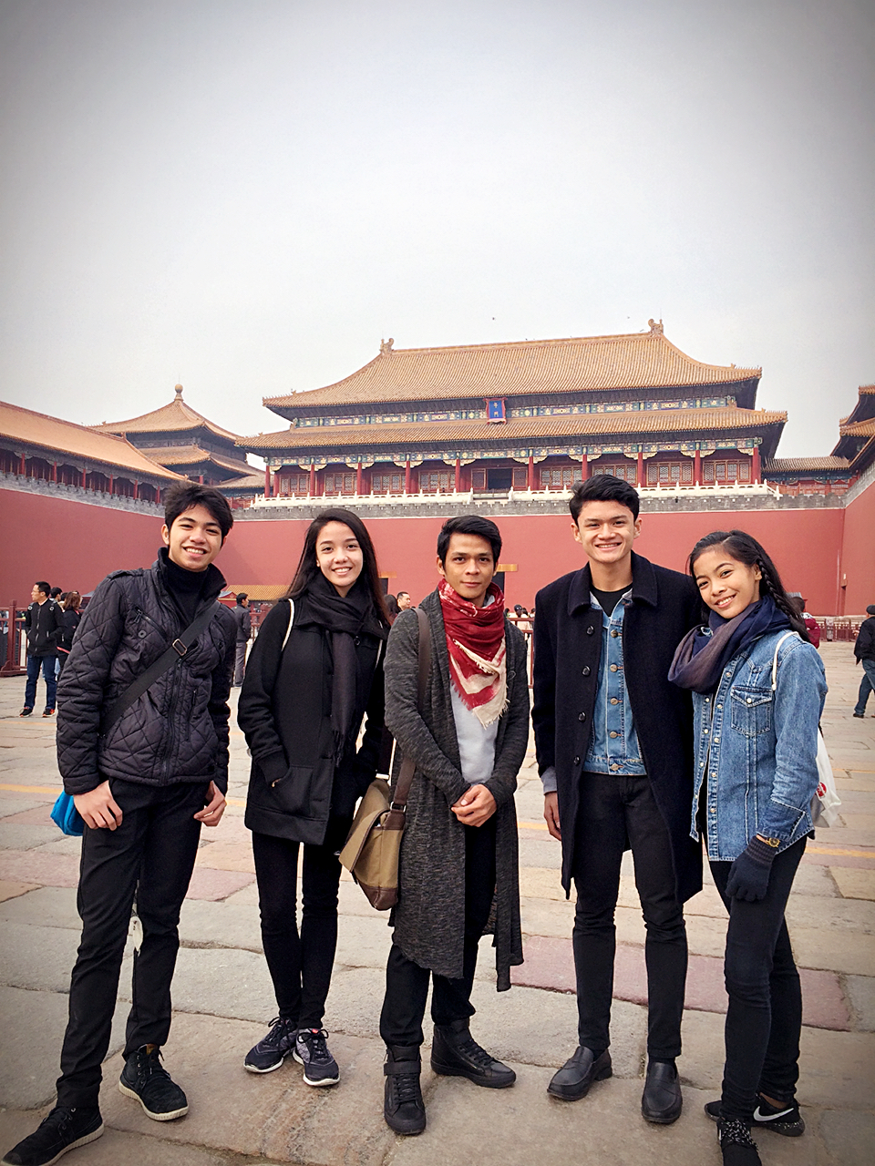 lvin Dictado, Marinette Franco, Joshua Enciso and Nicole Barroso take in the sights at the Forbidden City together with delegation head, BM principal dancer Gerardo Francisco. Photo courtesy of Gerardo Francisco