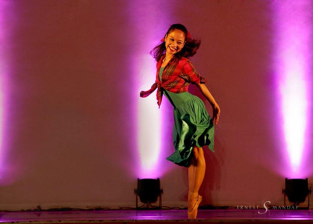 Jasmine Pia Dames dances in Ballet Manila's touring show,    Ballet & Ballads   . Photo by Ernest Mandap